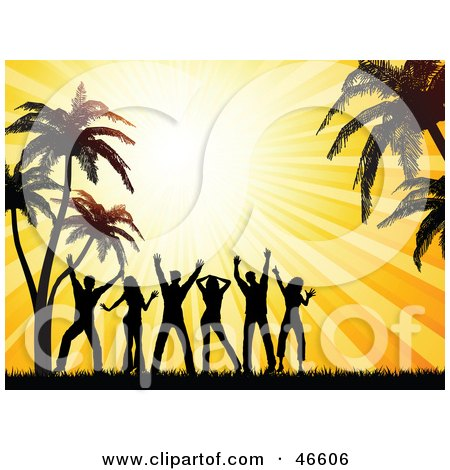 450x470 Royalty Free (Rf) Beach Party Clipart, Illustrations, Vector
