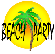 190x188 Party Clip Art Beach Party Sun Clipart Panda