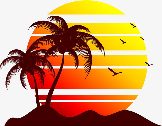 650x505 Collection Of Beach Sunset Clipart High Quality, Free