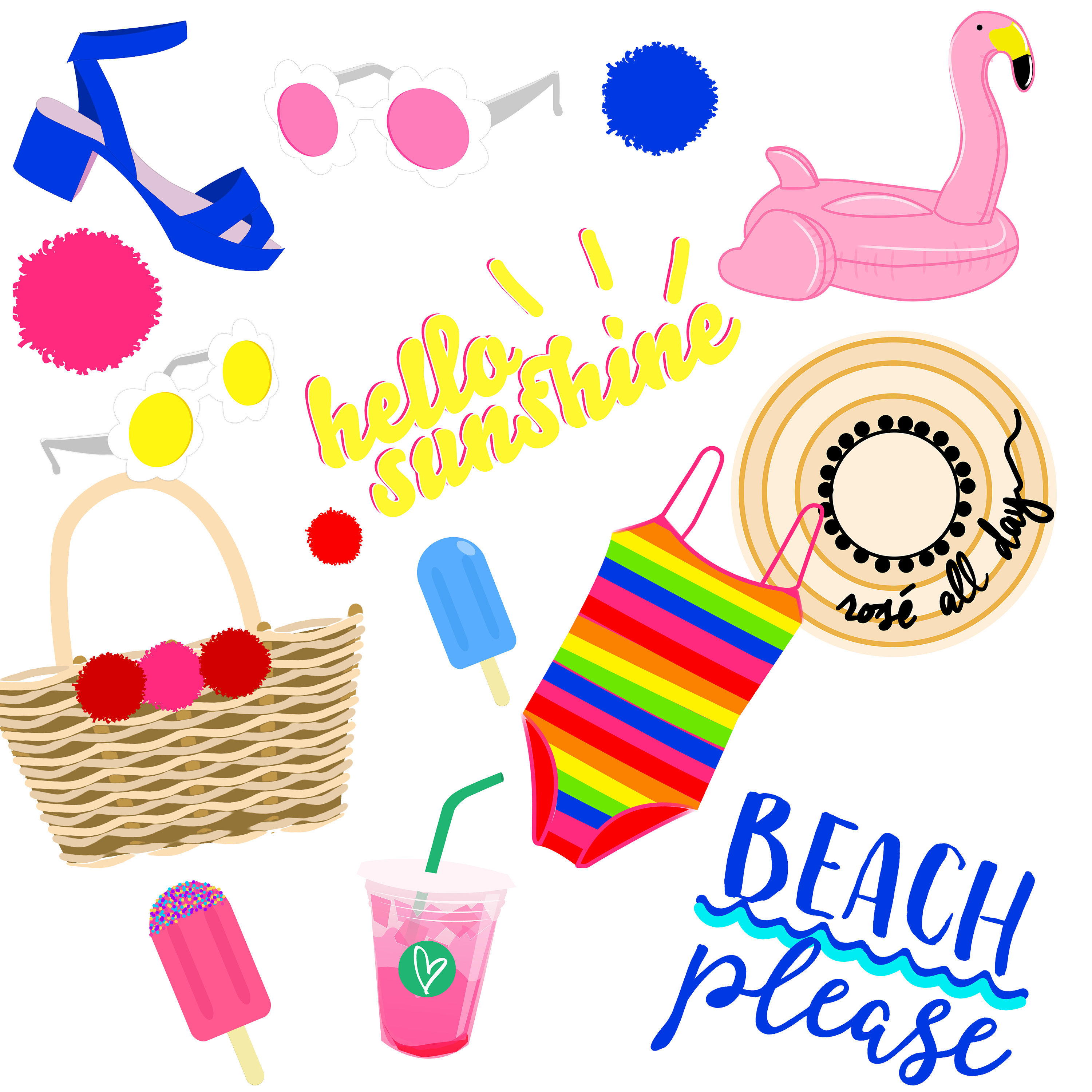 3000x3000 Beach Clipart Images