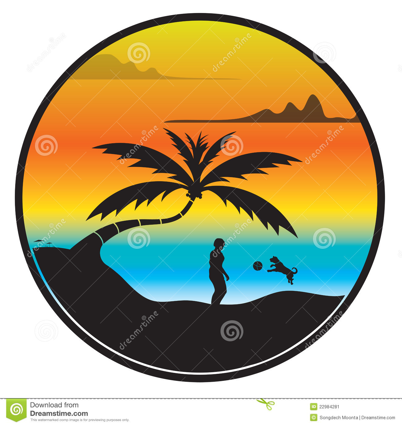 1300x1378 Sun Clip Art Sunset Over The Ocean Free Also Palm Trees Clipart