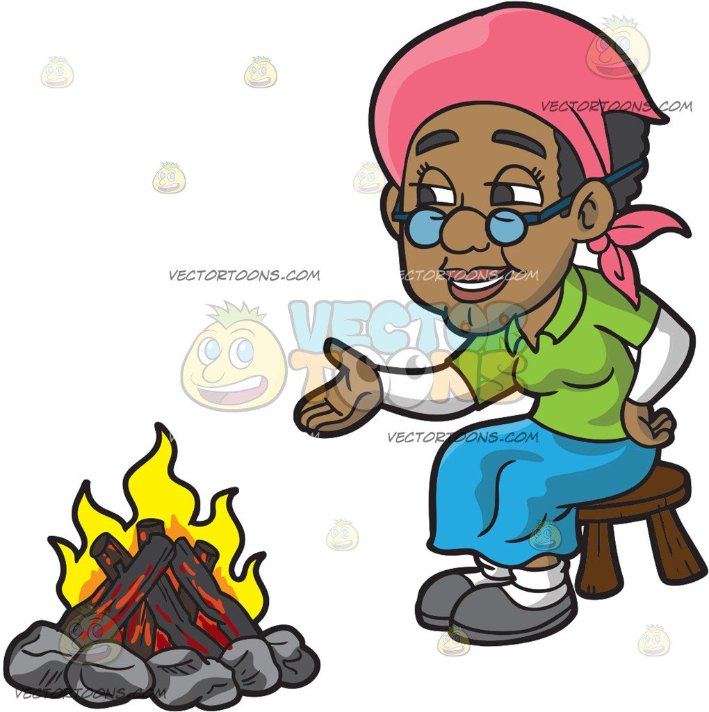 1020x1024 An Old Black Woman Sitting Beside The Campfire At Beach Sunset