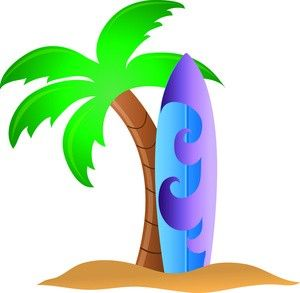 300x293 Tropical Surfboard Clipart, Surfing Clipart, Surf, Pictures