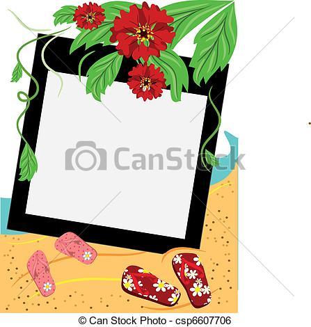 447x470 Beach Frame Clip Art Vector And Illustration. 9,831 Beach Frame