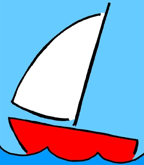 500x571 Beach Sailing Clipart
