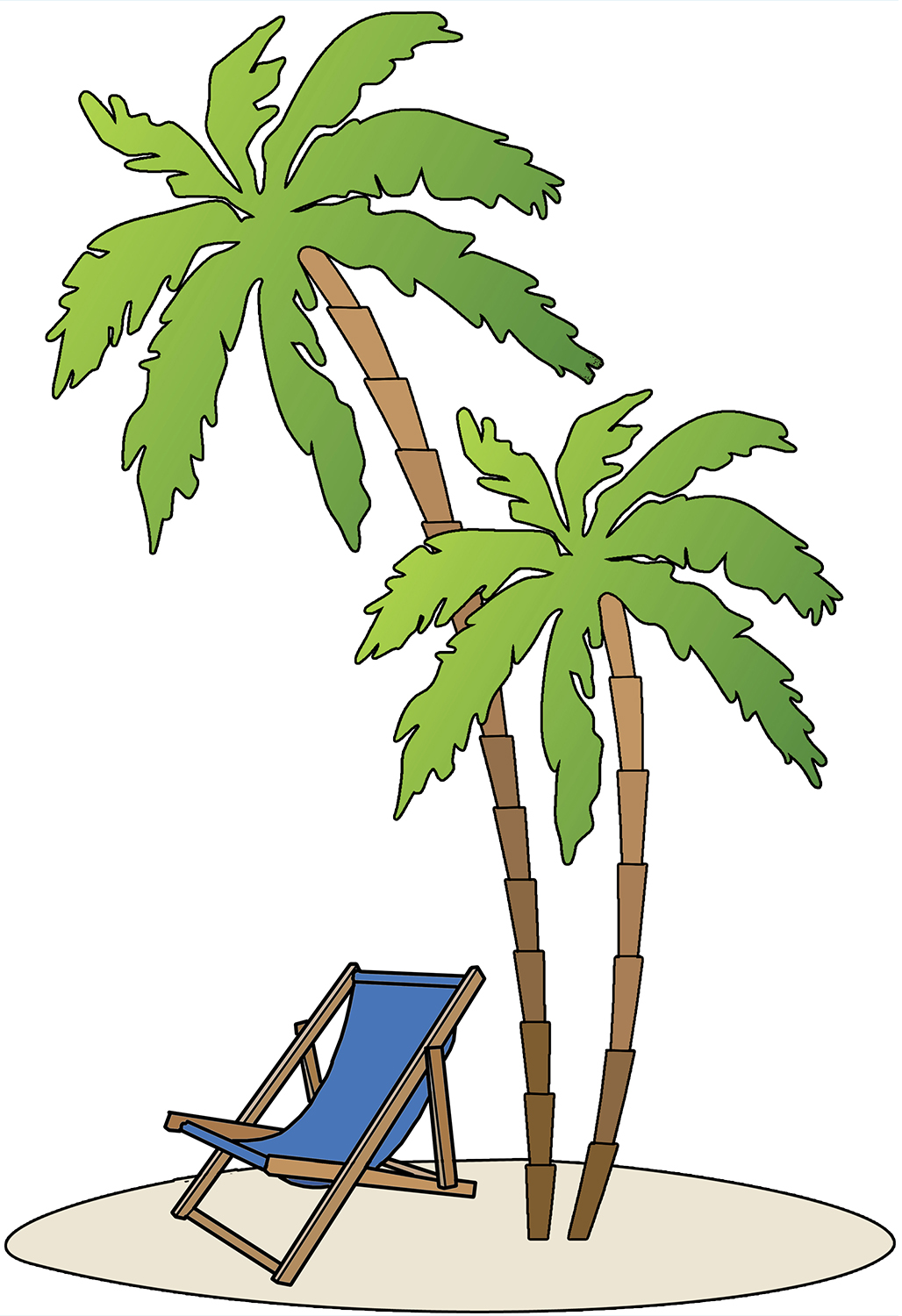 1028x1500 Beach Themed Clipart Border