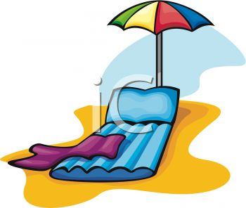 350x296 Inflatable Beach Chair With An Umbrella And A Towel