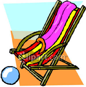 298x300 A Beach Chair, Towel, And Ball