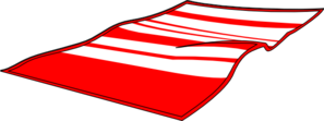 297x111 Red Beach Towel Clip Art