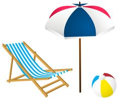 236x195 Beach Chair And Umbrella Png Clip Art Image Summer Fun