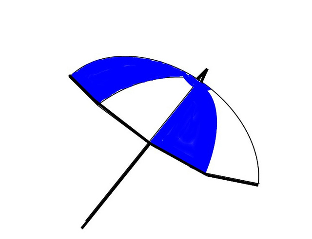 640x492 Beach Umbrella Clipart Free