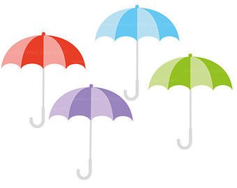 340x270 Umbrella Red Clip Art Download