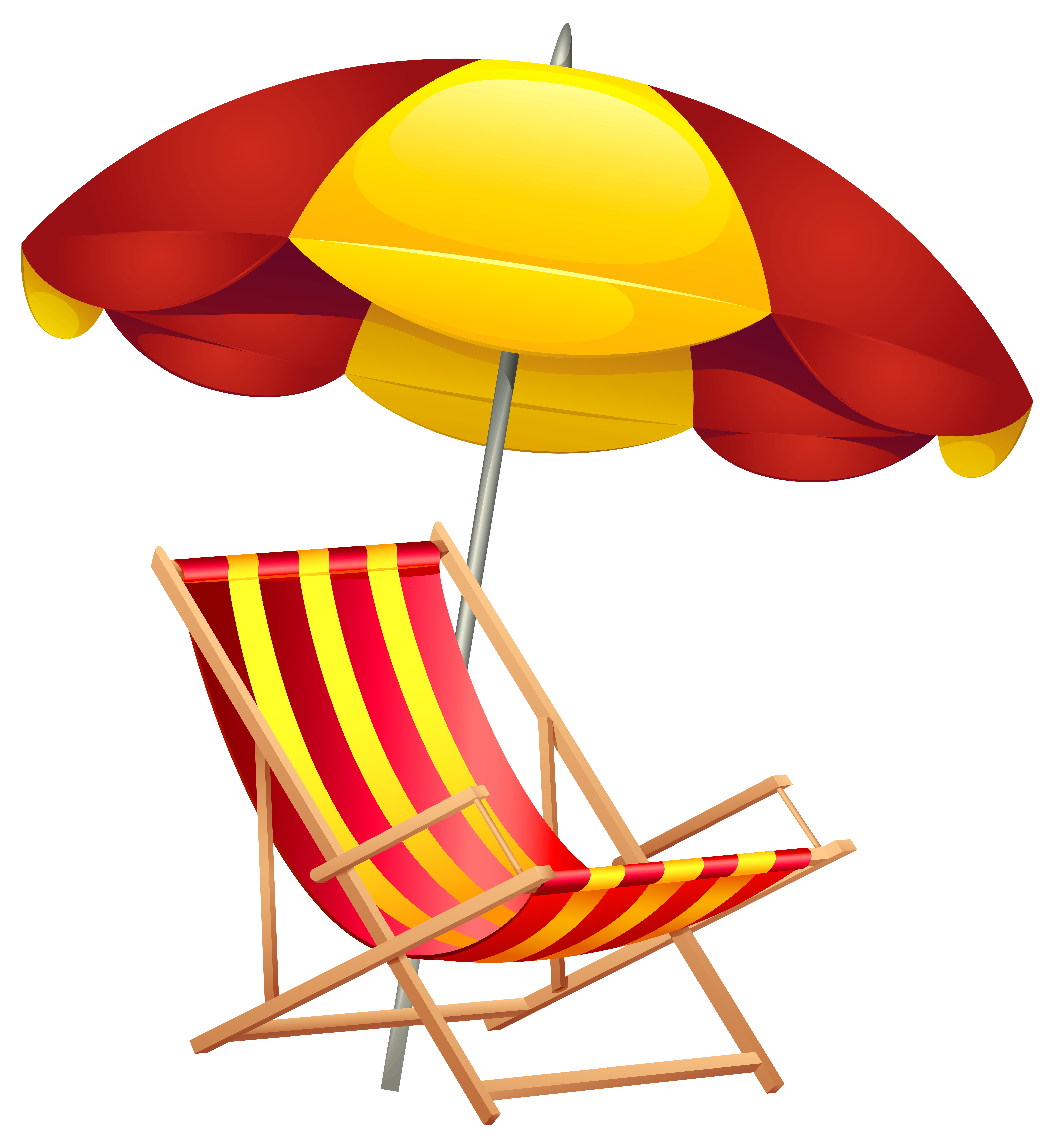 7344x8000 Beach Chair And Umbrella Png Clip Art Imageu200b Gallery
