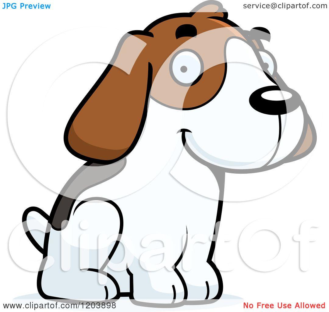 1080x1024 Cartoon Of A Cute Beagle Puppy Sitting