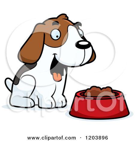 450x470 Cartoon Of A Cute Beagle Puppy With Dog Food