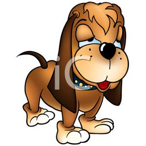 300x300 Clip Art Image A Cartoon Beagle Dog