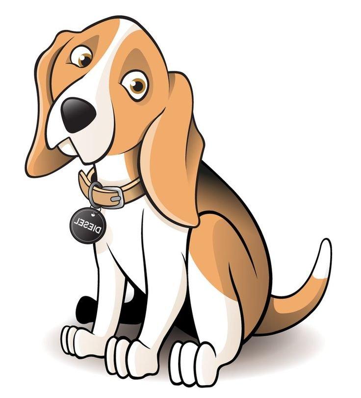 736x811 Beagle Clipart Dog Shadow 3058910