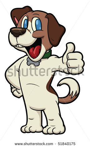 289x470 Picture Of A Beagle Dog Standing Up Smiling With One Thumb Up
