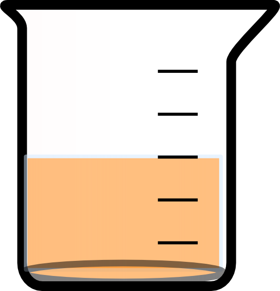 576x599 Beaker With Painted Bottom And Liquid Clip Art