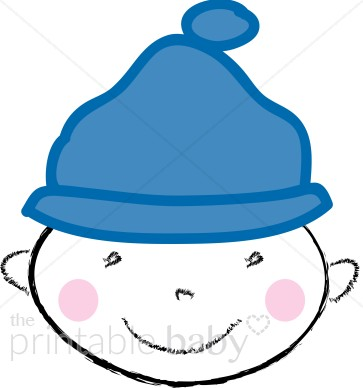 363x388 Baby With Beanie Clipart Baby Boy Clipart