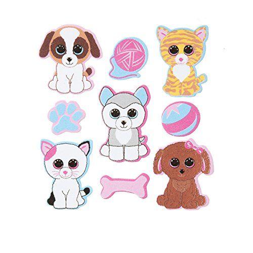 500x500 Darice, 18 Piece, Ty Beanie Boo Foam Sticker, Pets Theme