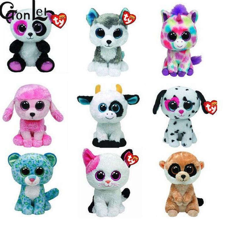 800x800 Gonlei Beanie Boos Original Ty Big Eyes Plush Toys Owl Sheep Dog