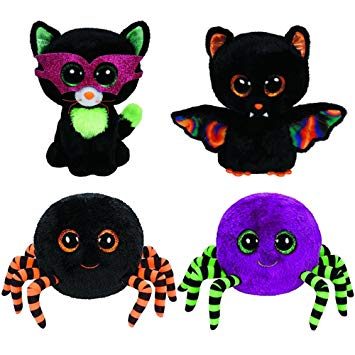 355x355 Ty Beanie Boo Boos Babies Halloween Set Of 4 Plush Soft Toys New