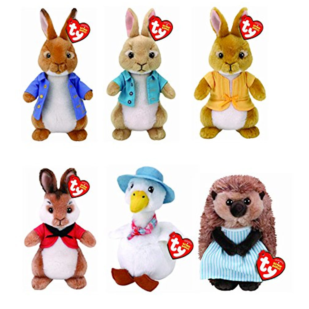1000x1000 Ty Beanie Peter Rabbit And Friends Soft Plush Toys 7 Inch (18cm