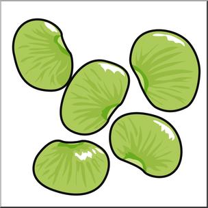 304x304 Clip Art Lima Beans Color I Abcteach