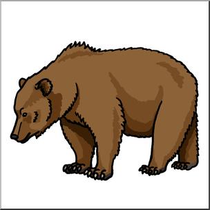 304x304 Clip Art Brown Bear Color 2 I Abcteach
