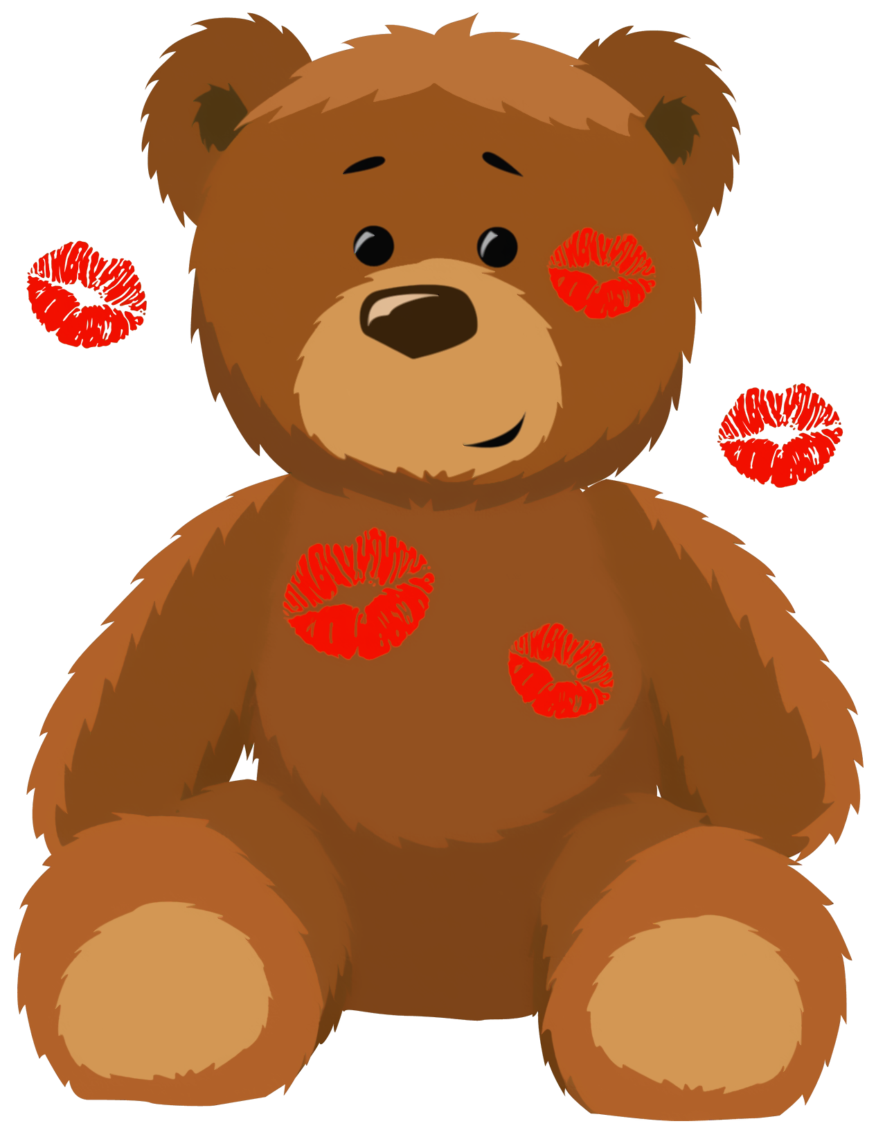 1265x1628 Cute Bear With Kisses Png Clipart Pictureu200b Gallery Yopriceville