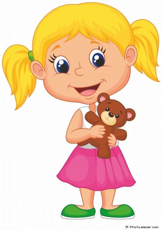 550x780 Little Girl Holding Bear Stuff Kids Clip Art