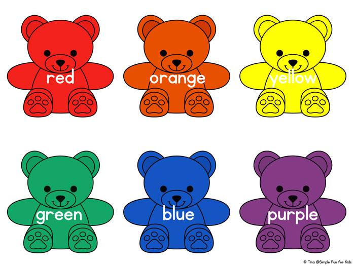 700x525 Rainbow Bear Colors Printable