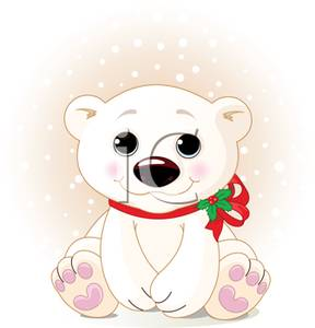 288x300 Clipart Image A Cute Polar Bear Cub