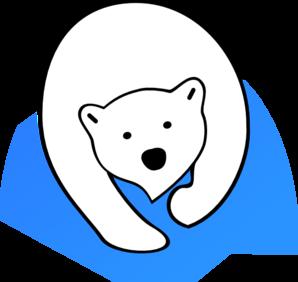 298x282 Polar Bear Cub Clipart