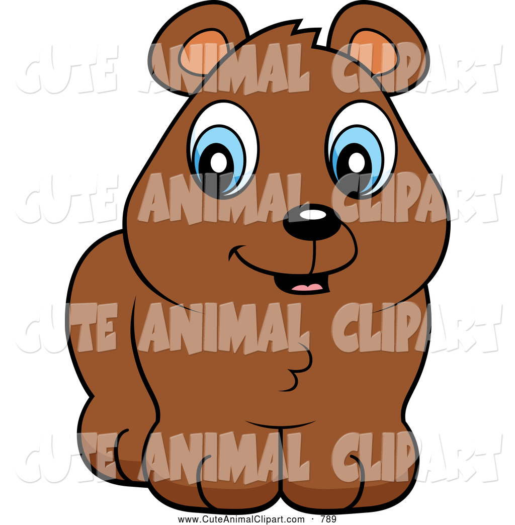 1024x1044 Vector Cartoon Clip Art Of A Cute Brown Bear Cub With Blue Eyes By
