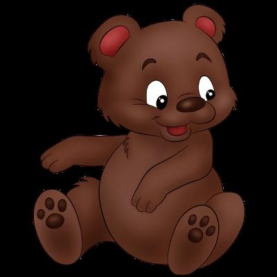 400x400 Pretty Baby Bear Clipart
