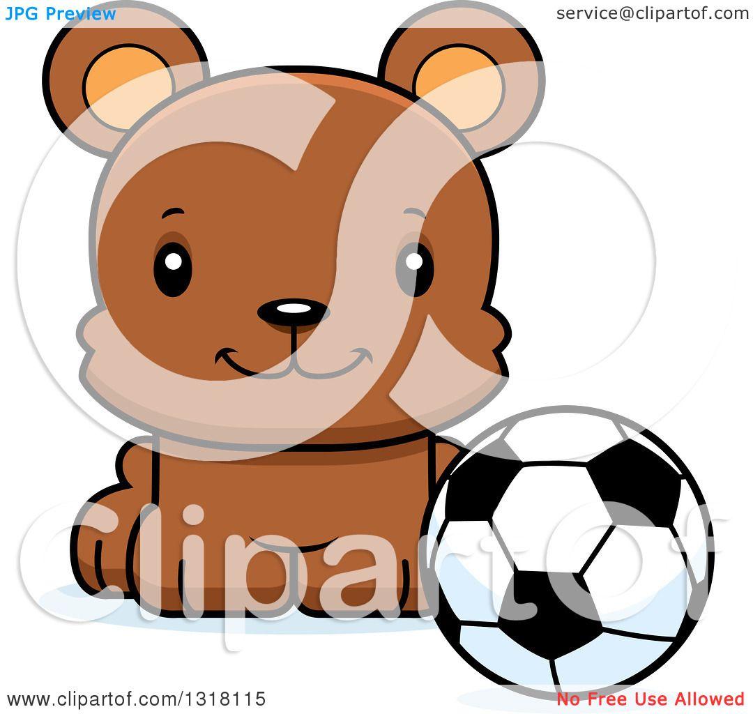 1080x1024nimal Clipart Of Cartoon Cute Happy Bear Cub Sitting