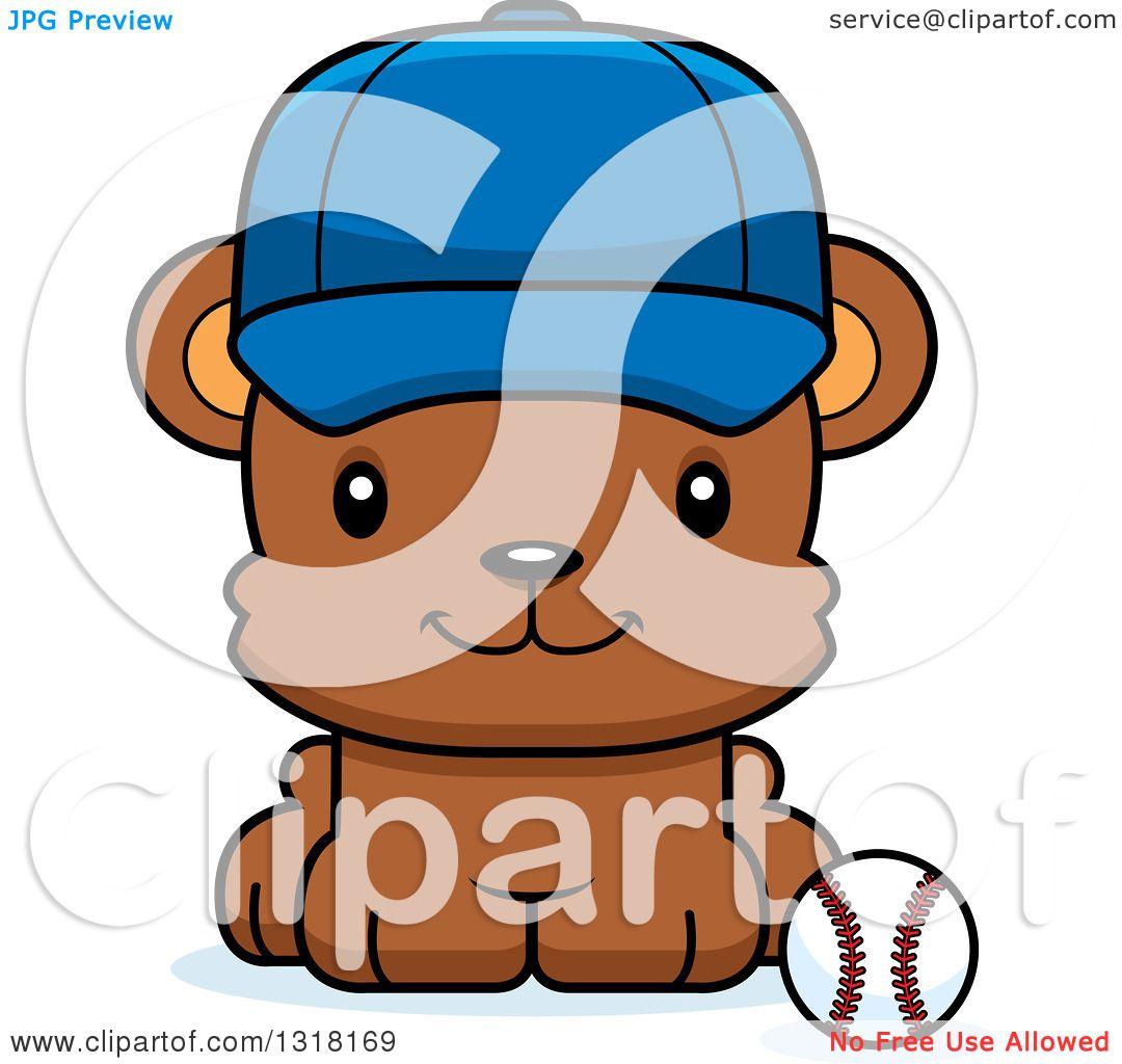 1080x1024 Animal Clipart Of A Cartoon Cute Happy Bear Cub Wearing A Cap
