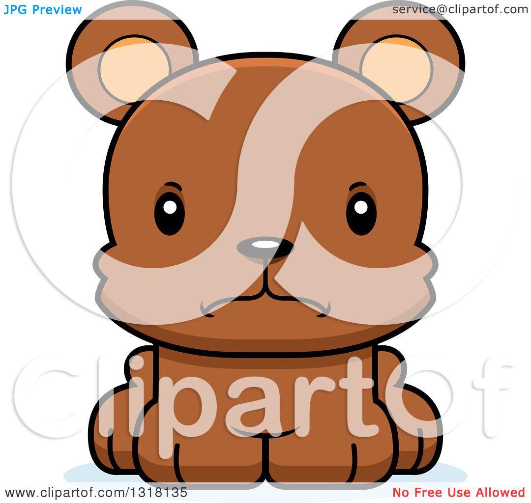 1080x1024 Animal Clipart Of A Cartoon Cute Mad Bear Cub