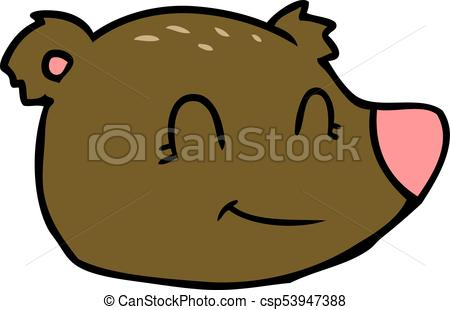 450x310 Cartoon Happy Bear Face Vector
