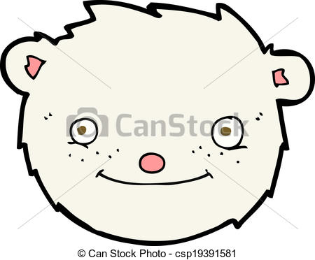 450x372 Cartoon Polar Bear Head Vector