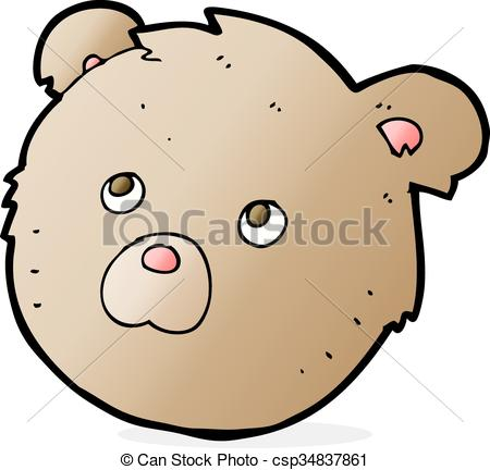 450x432 Cartoon Teddy Bear Face Clip Art Vector