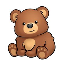 220x220 Cute Bear Face Clip Art