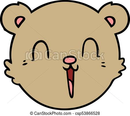 450x402 Cute Cartoon Teddy Bear Face Vector Illustration