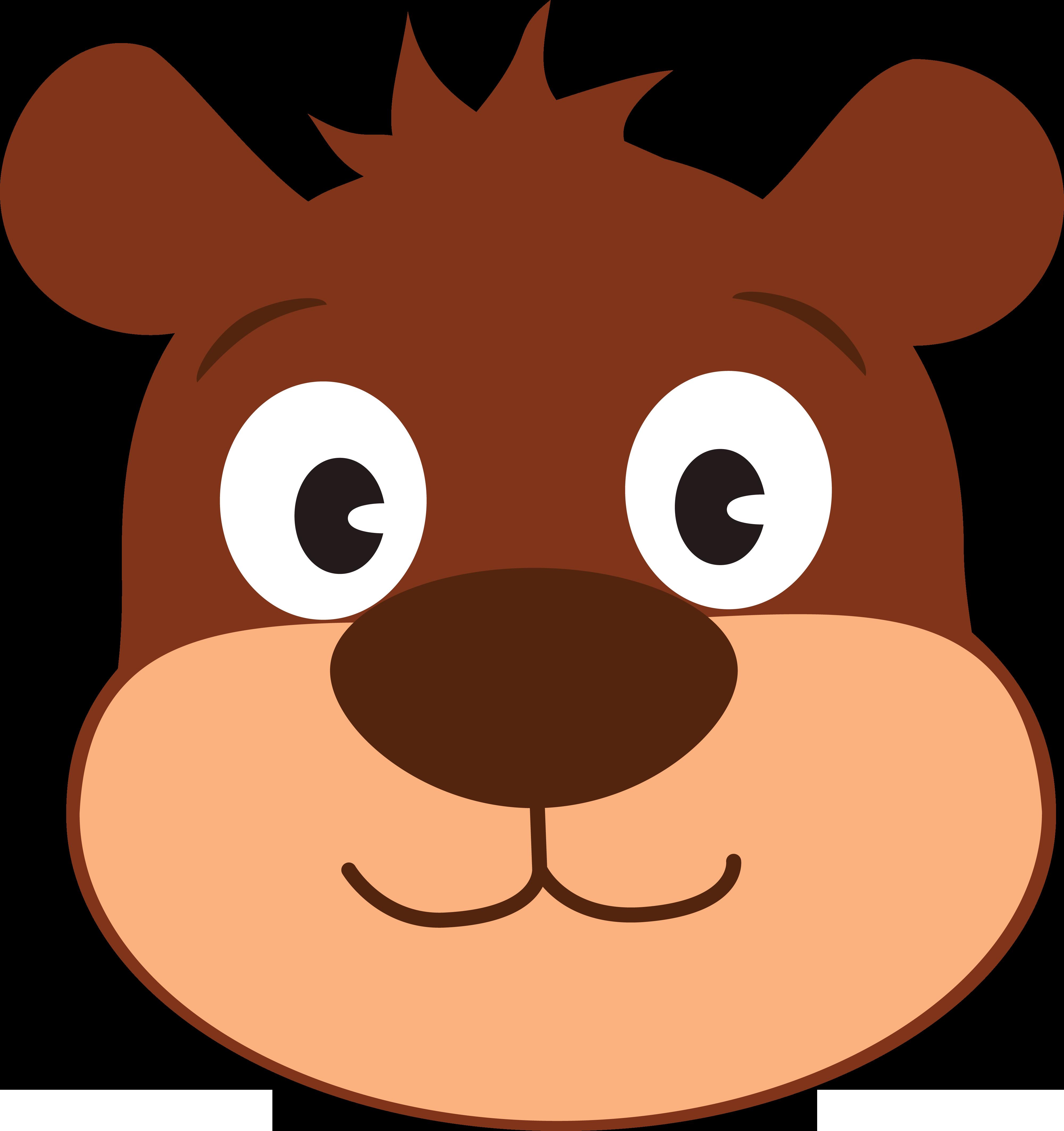 4000x4251 Free Clipart Of A Cute Bear Face