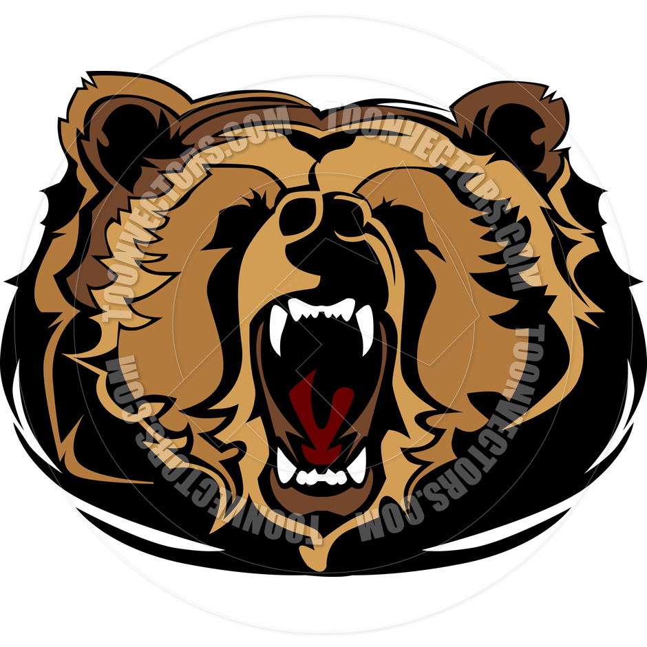 940x940 Grizzly Clipart Bear Face