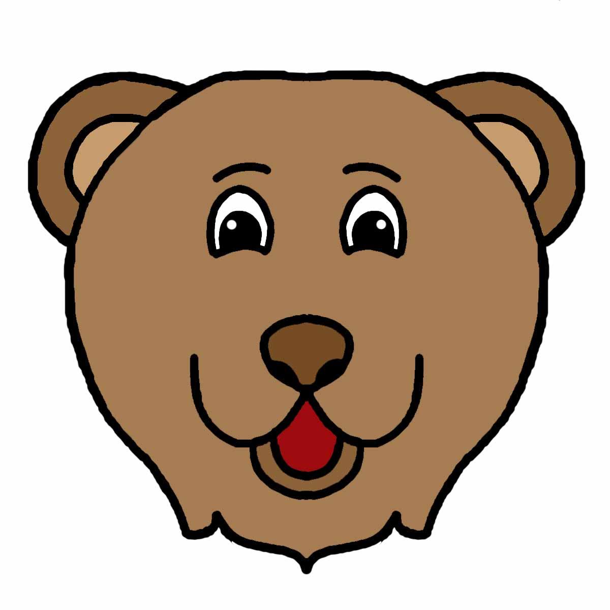 1200x1200 Image Of Bear Head Clipart