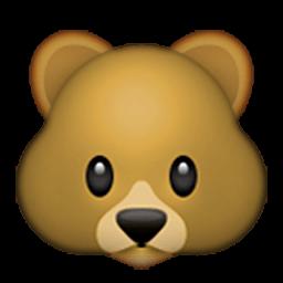 256x256 Bear Clipart Emoji