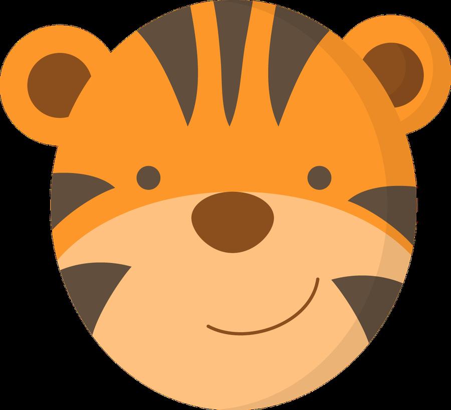 900x818 Tiger Face Clip Art